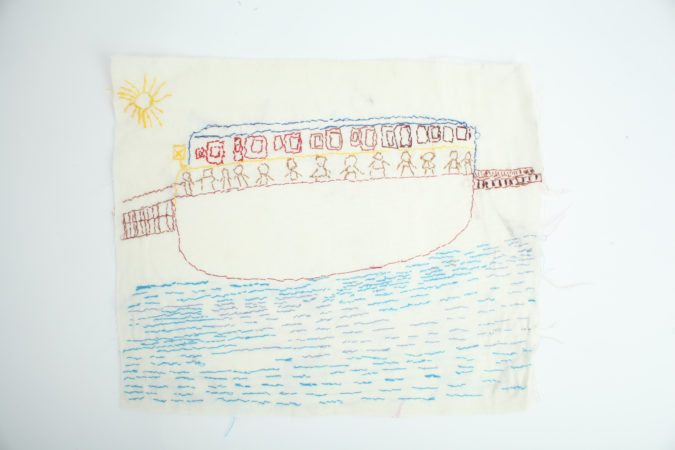 Robert Dixon, 'A boat with people, lots of people', 2019