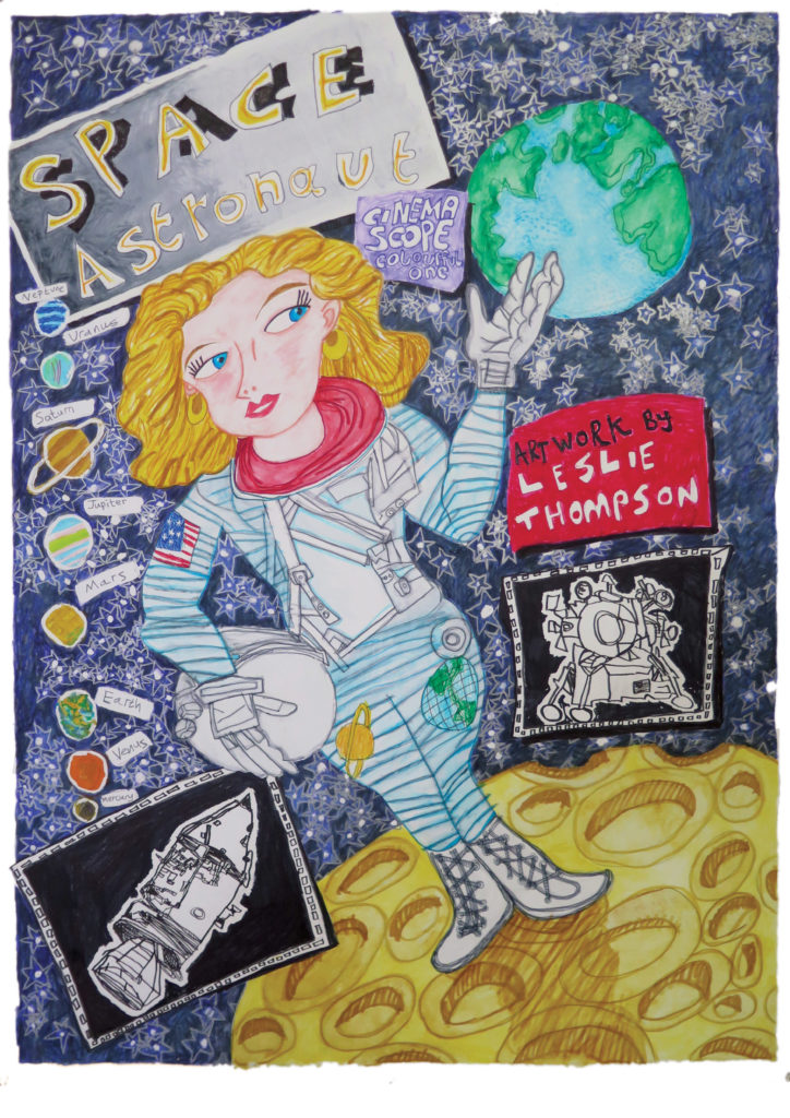 INTERNATIONAL WOMENS DAY | 'Space Astronaut' Limited Edition Print by Leslie Thompson