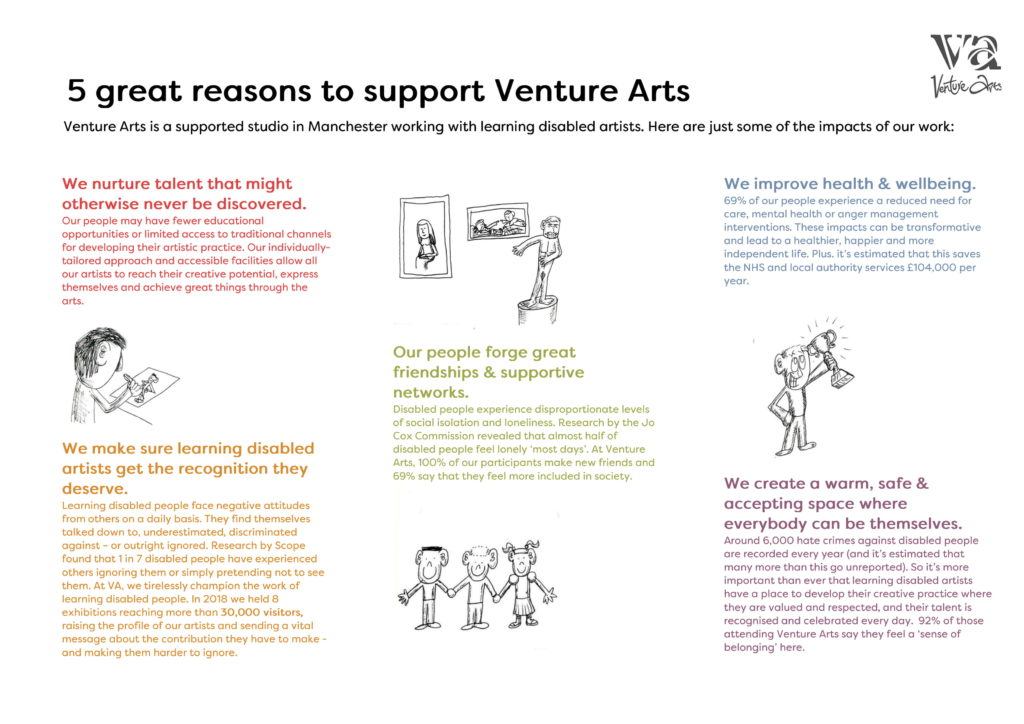 5 Great Reasons to Support Venture Arts 1