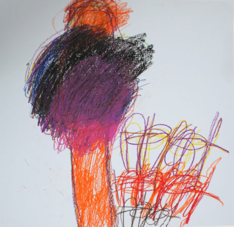 Michael Beard, 'Untitled', wax crayon on paper, 2018