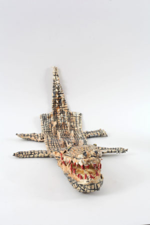 John Powell-Jones, 'It's behind you', 2020, Mixed media (foam, latex, cotton, acrylic paint, clay), Crocodile puppet.