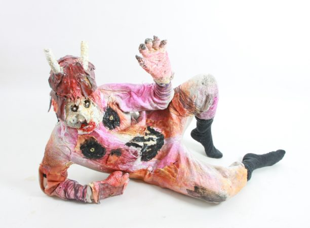 John Powell-Jones, 'Hobgoblin 1 Costume', 2019. Mixed media (foam, latex, cotton, acrylic paint, clay). Costume featured in Hobgoblin Limbo film. Image by Amy Ellison.