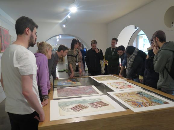 Artists' visit to the Whitworth; viewing the Musgrave Kinley Outsider Art Collection