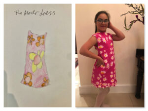 ART AT HOME: Artists collaborate to design and make dream dress at home 2