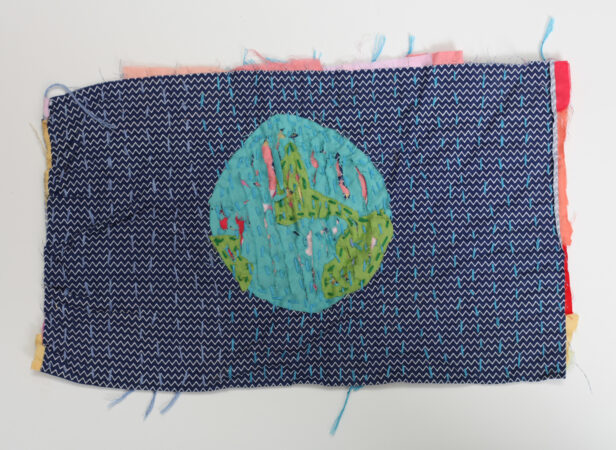Sally Hirst, 'Destroying the Earth', fabric scraps stitched and slashed (made for Future 20), 2020