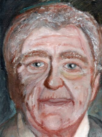 George Parker-Conway, 'Alf Morris', acrylic on canvas, 2020