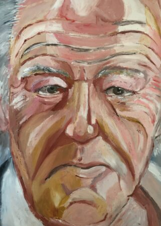 George Parker-Conway, 'Gambon', oil paint on oil painting paper, 2017