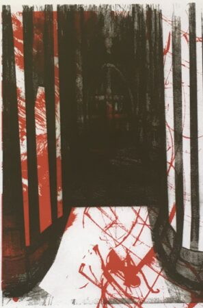 George Parker-Conway, 'Mask of the Red Death', lithograph print, 2018