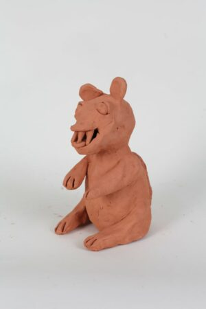 Dominic Bennett, ceramic weasel from 'Army of Weasels', 2020.